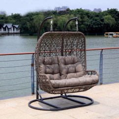 Hanging Wicker Egg Chair Slipcovers For Dining Chairs Uk Luxury Outdoor Furniture Double Seat Indoor Swing Rattan Living Room ...