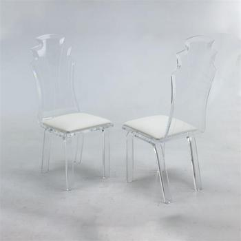 lucite acrylic chairs baby bjorn bouncy chair age turkish furniture clear dining room cafe for sale