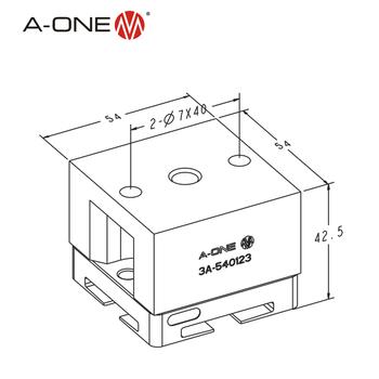 3r Edm Brass Block Electrode Holder For Keyless Drill