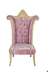 Luxury Gold And Pink Throne Chair,High Back Pink Wedding