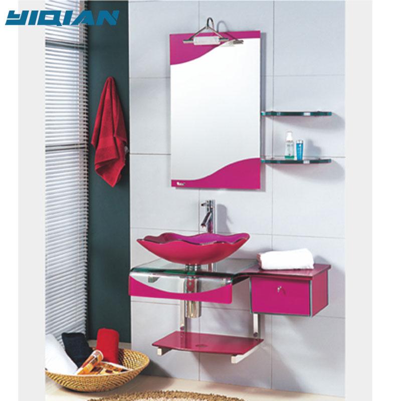 pedestal sink vanity with glass wash basin buy wash basin vanity sink vanity pedestal sink product on alibaba com