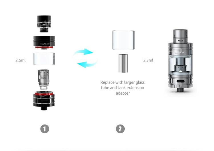 Compact Size E Cig Smok R80 Tc Box Mod Smok Micro One Kit