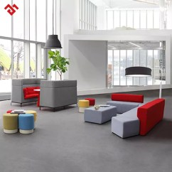 Sofa Rph Bergamo Grey Sectional Leather Meeting Room Furniture Reception Combination High Back Office
