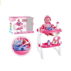 Baby Toy High Chair Set Back Chairs For Living Room Reborn Doll Play Pretend Buy