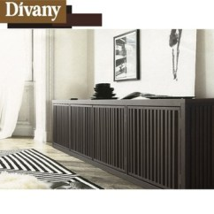 Kitchen Sideboards Cabnits Solid Wood Sideboard Low Black High Gloss
