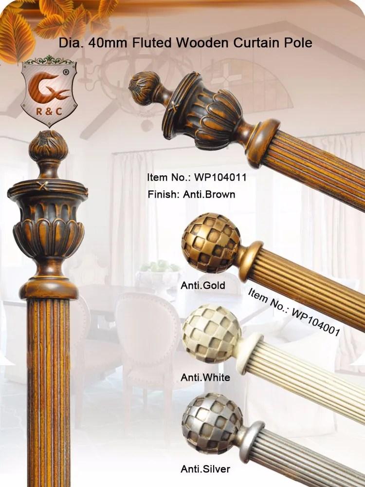 tringle pour rideau en bois massif accessoire avec anneaux en bois buy bois cannele antique tringle a rideau nouveau poteau de rideau en bois brun