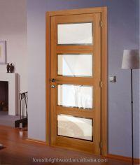 4 Panel Shaker Beveled Glass Interior Doors,Wood Beveled ...