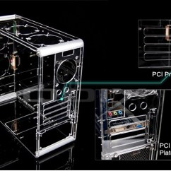 Computer Ports Diagram Carling Rocker Switch Wiring Wholesale Retail Pc-a006 Vertical Transparent Chassis Acrylic Plastic Personalized Case ...
