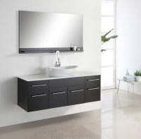60 Inch One Basin Wall Hung Modern Bathroom Vanities ...
