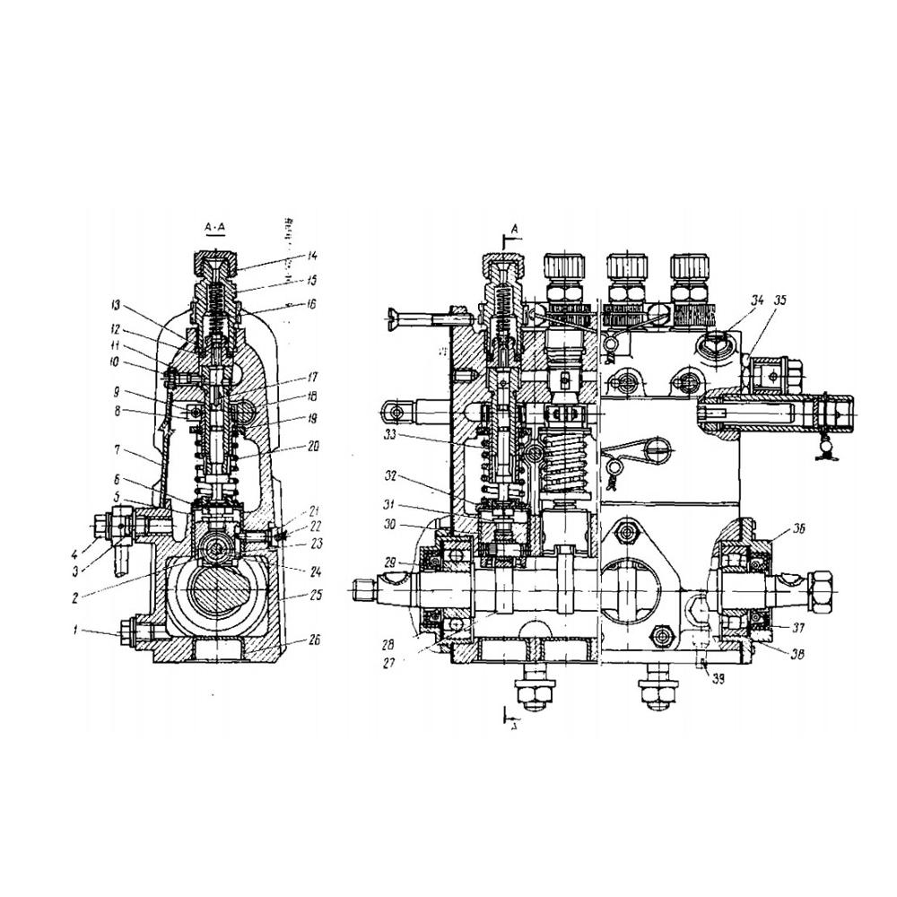 hight resolution of fuel injection pump plunger and barrel assembly for marine diesel engine