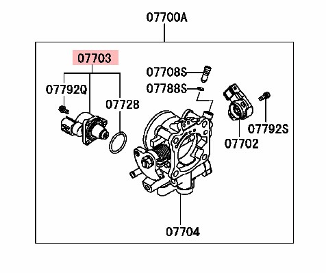 Idle Speed Control Valve For Mitsubishi Io Lancer H67w