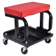 Steel Chair Repair Kitchen Chairs With Casters Swivel Buy Rolling Mechanic Seat Stool Tray Tools Shop Auto Creeper Car Garage