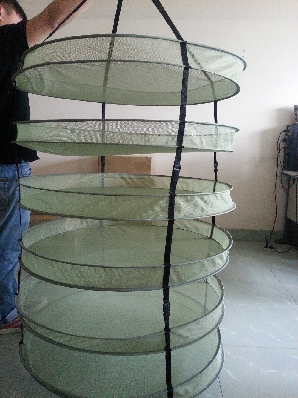 46 Tiers Mesh Grow Tent Hanging Drying Rack Fo Buds And Flowers  Buy 6 Plant Detachable Plant