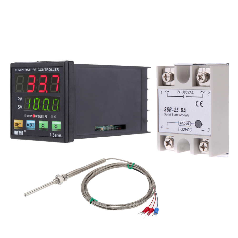 medium resolution of mini digital thermometer pid temperature controller heating cooling control solid state relay module rtd thermistor sensor probe