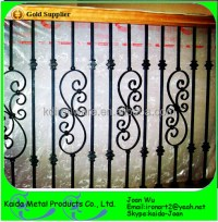 Outdoor Balcony Railing Wrought Iron Belly Balusters