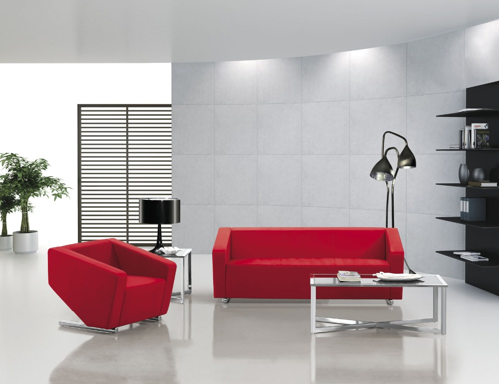 Modern Red Leather Office SofaFabric Office SofaClassic