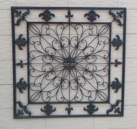 Home Decorative Fleur-de-lis Wrought Iron Panel Metal Wall ...