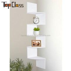 Corner Shelf For Living Room Contemporary Art Deco Wall Display Home Decor Rack Storage Shelves Wood