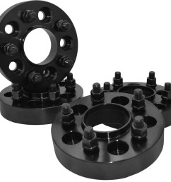 1 25 thick black hub centric wheel spacers adapters for jeep wrangler rubicon jk [ 1000 x 947 Pixel ]