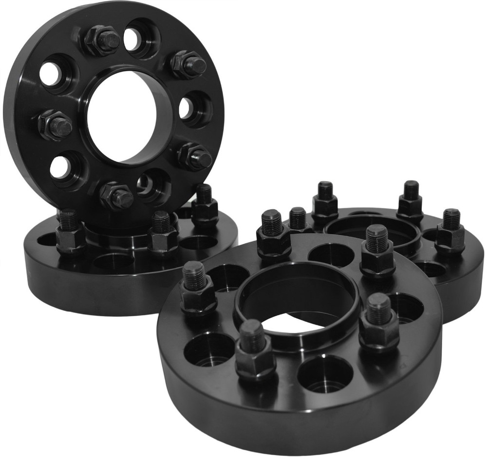 medium resolution of 1 25 thick black hub centric wheel spacers adapters for jeep wrangler rubicon jk