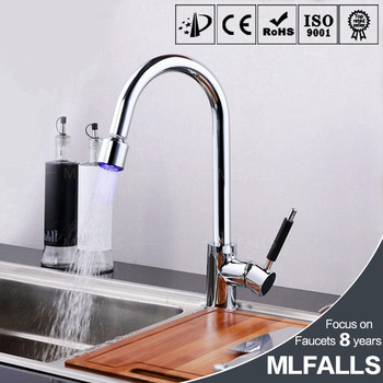 wholesale kitchen faucets outdoor kitchens tampa fl chrome led copper single hole pull down faucet handle out buy
