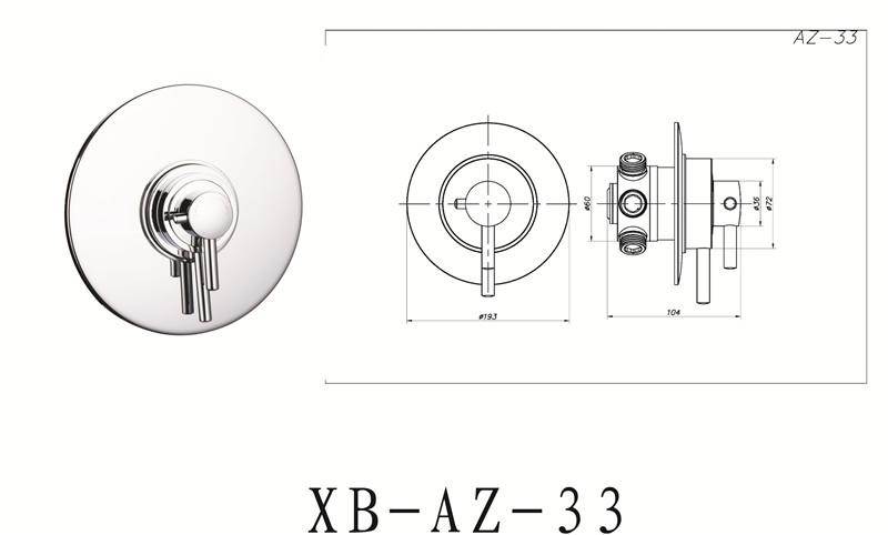 Xb-az-33 Simple Fashion Design Brass Wall Mounted