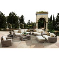 Luxury Round Rattan Large Garden Use 8 Seater Sofa Set And ...