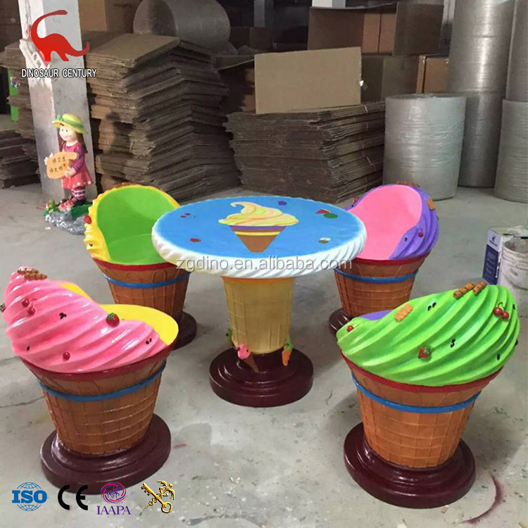 ice cream table and chairs kids barber chair garden statue shop decoration fiberglass buy