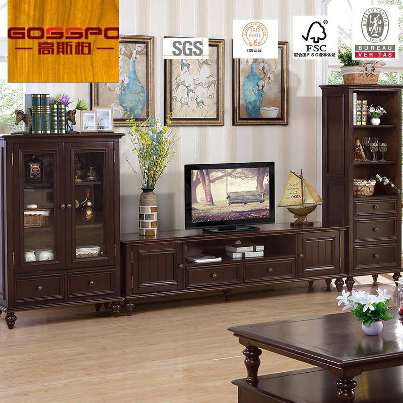 salon meuble tv classique en bois