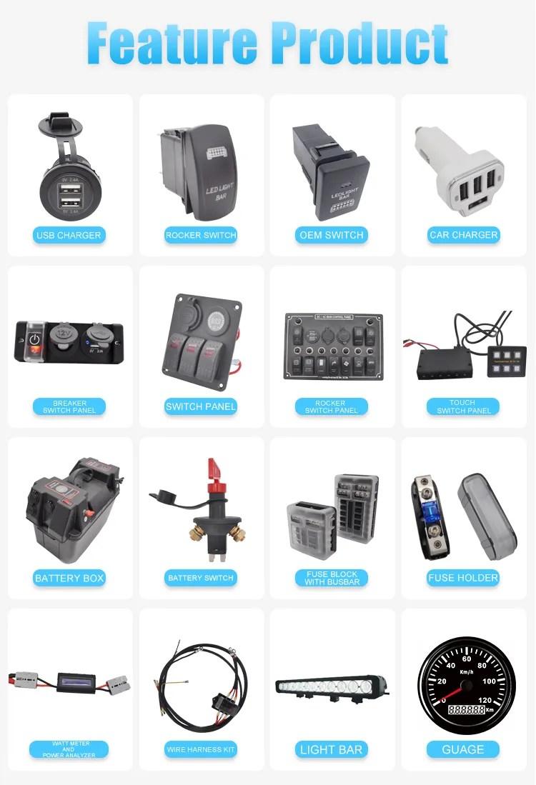 medium resolution of car automotive parts automobile bolt on dc anl plastic fuse holder inline mini