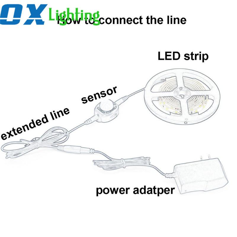 Pir Motion Sensor Led Strip 3528 Detector Activated Bed