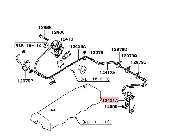 Válvula Solenoide De Emisión Para Mitsubishi Triton L200