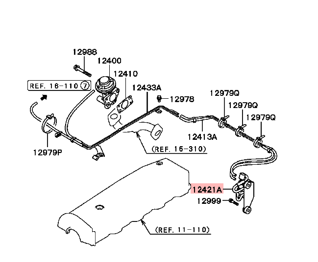 Emission Solenoid Valve For Mitsubishi Triton L200 Pajero