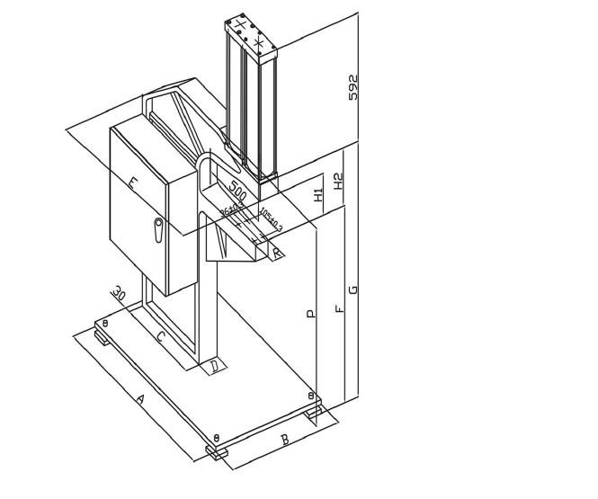 Cheap Usun Model : Ulyp-4 4 Tons Pressure Capacity C Frame