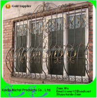 Beautiful Steel/wrought Iron Safety Window Grills,Window ...