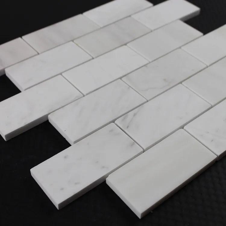 decorstone24 elegant volakas white stone subway tile backsplash 2x4 inch buy subway tile backsplash subway tile white subway tile product on