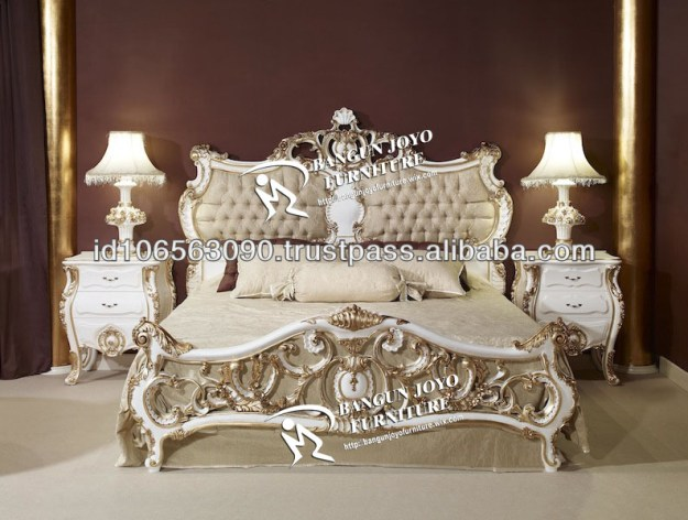 racoco antique headboard carved with gold leaf italian design bed
