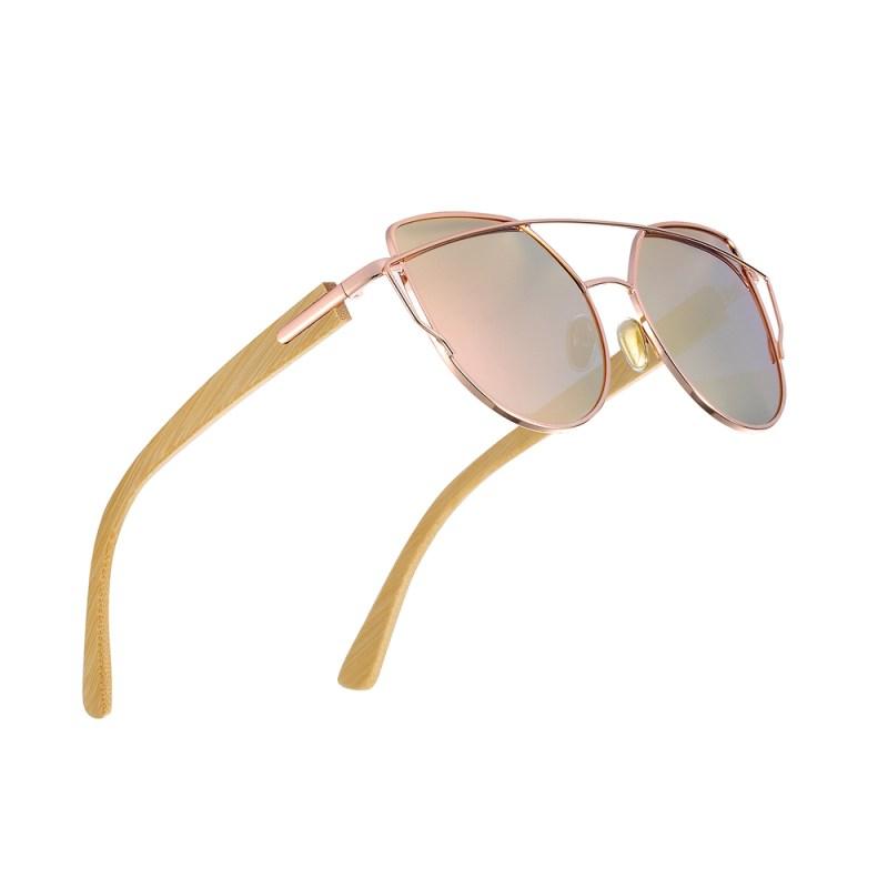 HTB1sqncglDH8KJjSspnq6zNAVXaD BARCUR Bamboo Cat Eye Sunglasses Polarized Metal Frame Wood Glasses Lady Luxury Fashion Sun Shades With Box Free
