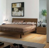 Queen Size Bed Bedroom Furniture Modern Simple Wooden Bed ...