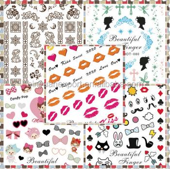 Bin 2017 Hot Cartoon Water Printing 2d Nail Art World Stickers