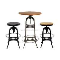 Vintage Industrial Toledo High Bar Table And Stool Chairs ...