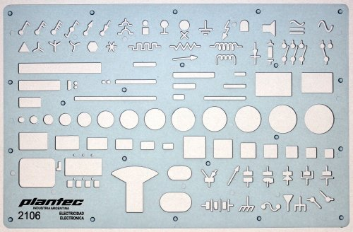 small resolution of electrical and electronic installation symbols drawing template stencil engineering drafting supplies layout plan schematic