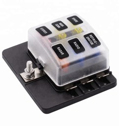6 way blade fuse box holder with red led warning light kit for car boat marine [ 1000 x 1000 Pixel ]