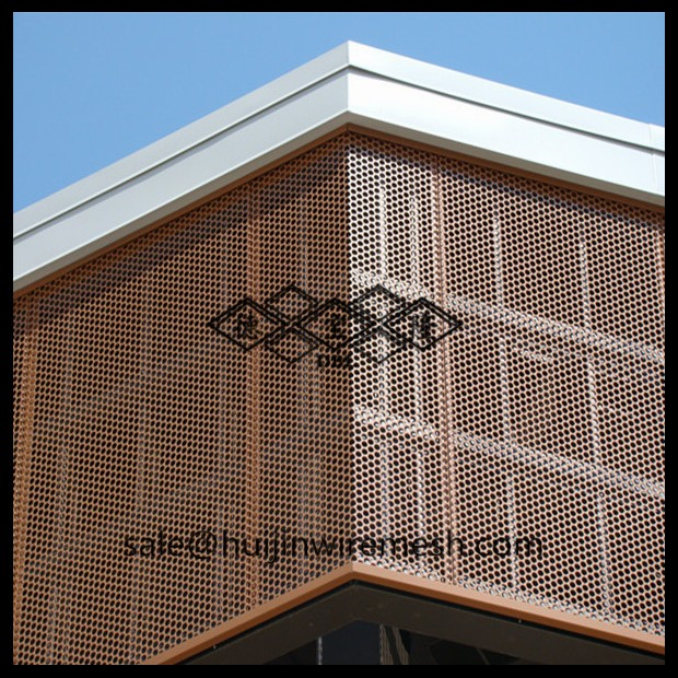 Decorative Perforated Metal Panels For Curtain Wall