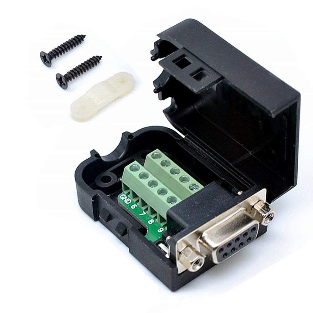 hight resolution of get quotations connector db9 rs232 d sub female adapter serial 9 pin port db9 cob breakout terminal