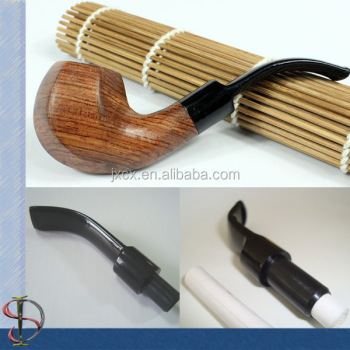 Wooden Tobacco Pipes With Acrylic Pipe Stem