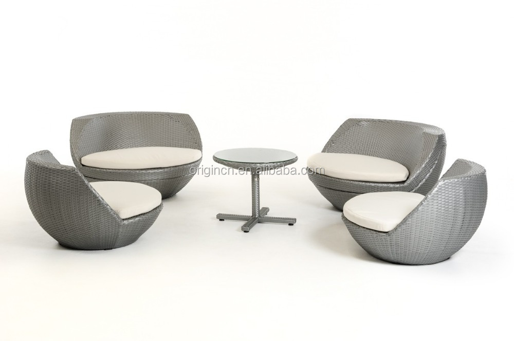 egg wicker chairs outdoor white 5 pcs global ball shaped stackable silver grey rattan single furniture