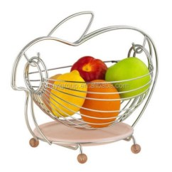 Fruit Basket For Kitchen Sub Zero Wolf Chrome Metal Wire Dinning Table Decoration
