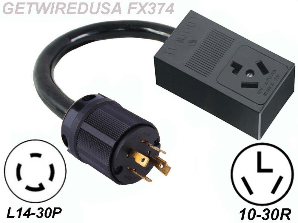 medium resolution of male generator l14 30p 4 prong twist lock plug to female 10 30r