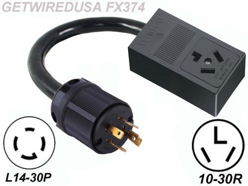 small resolution of male generator l14 30p 4 prong twist lock plug to female 10 30r